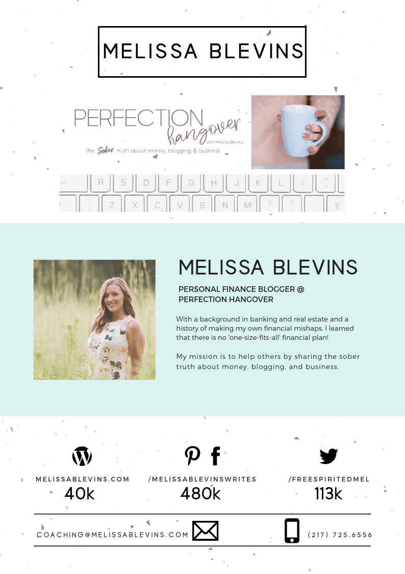 Melissa Blevins Perfection Hangover Media Kit Collaborate