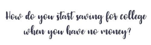 no college savings