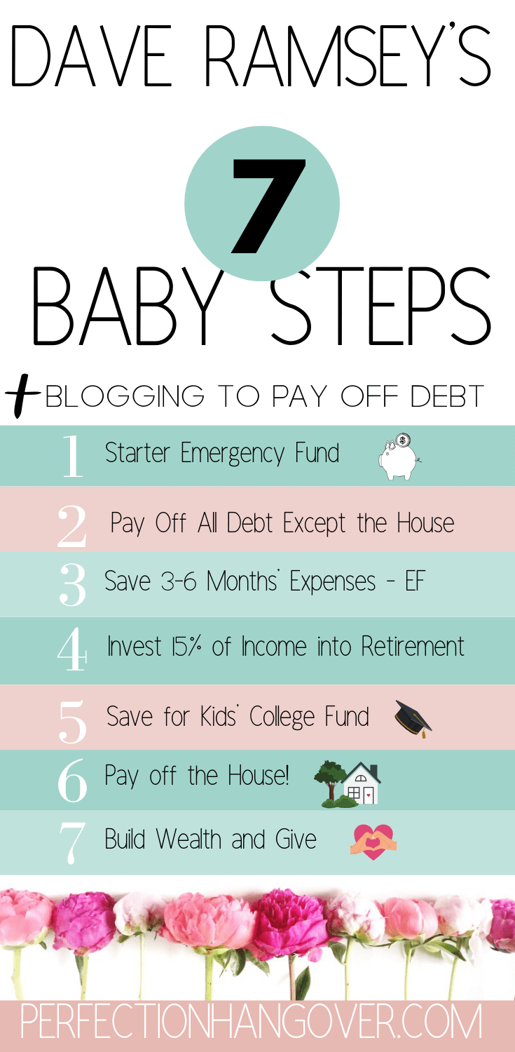 Dave Ramsey Baby Steps Blogging to Pay Off Debt