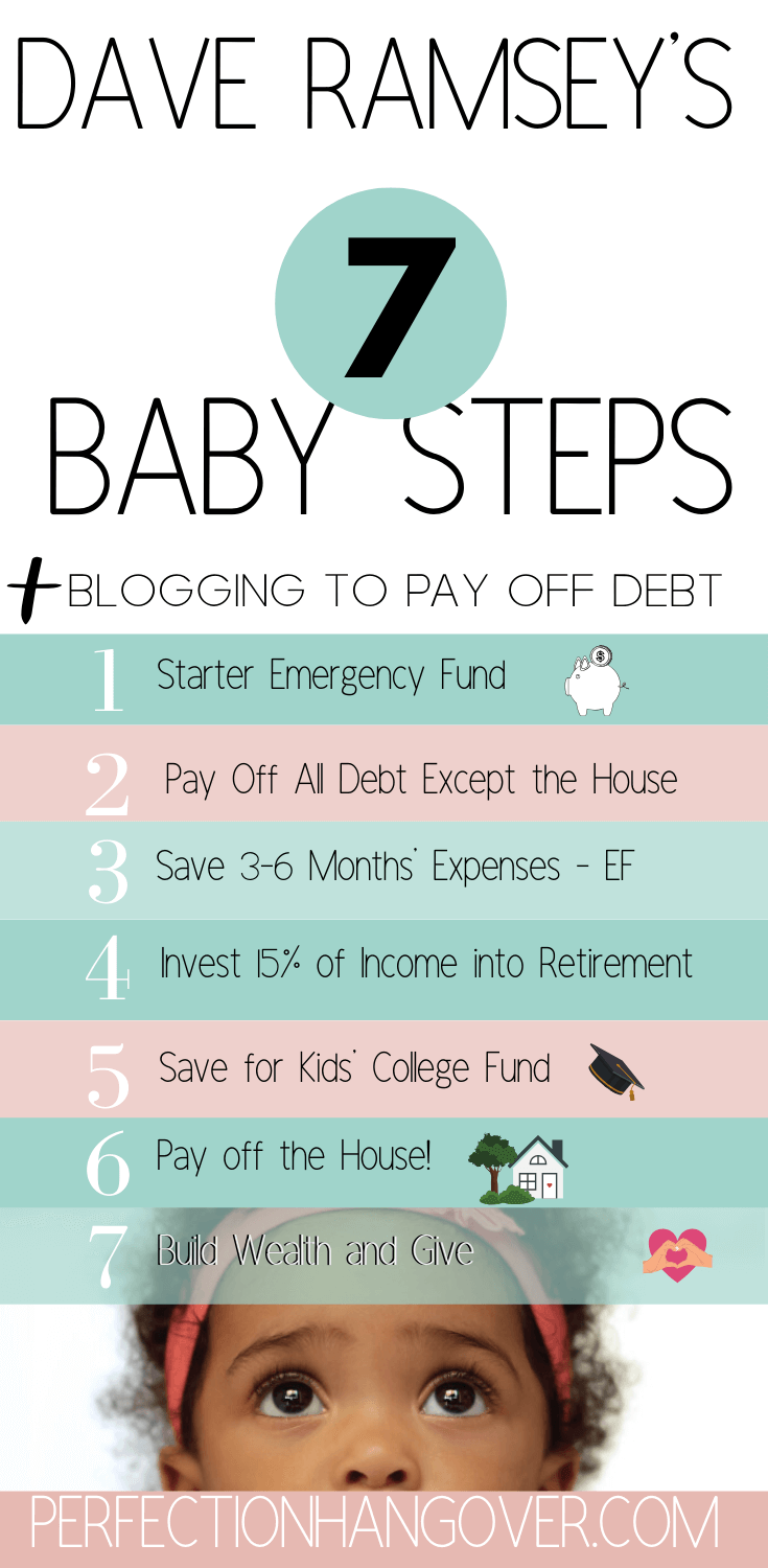 Dave Ramsey Baby Steps Blogging to Pay Off Debt 2