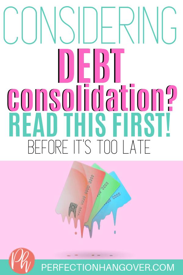 Considering Debt Consolidation
