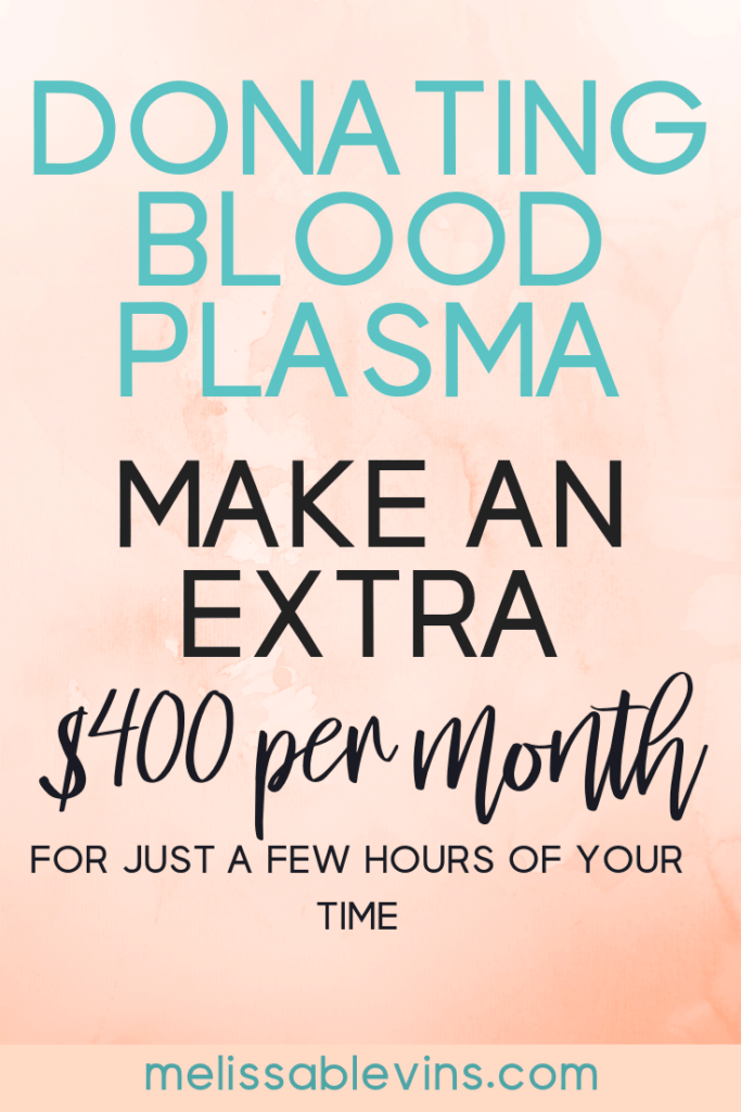 Donating Blood Plasma for Money