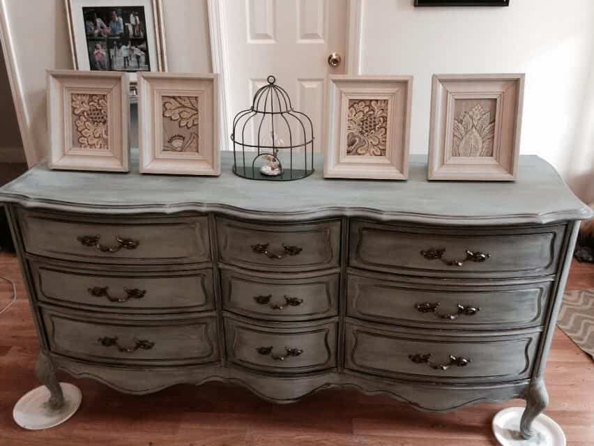 Goodwill Dresser Annie Sloan Chalk Paint Duck Egg Blue Refinished