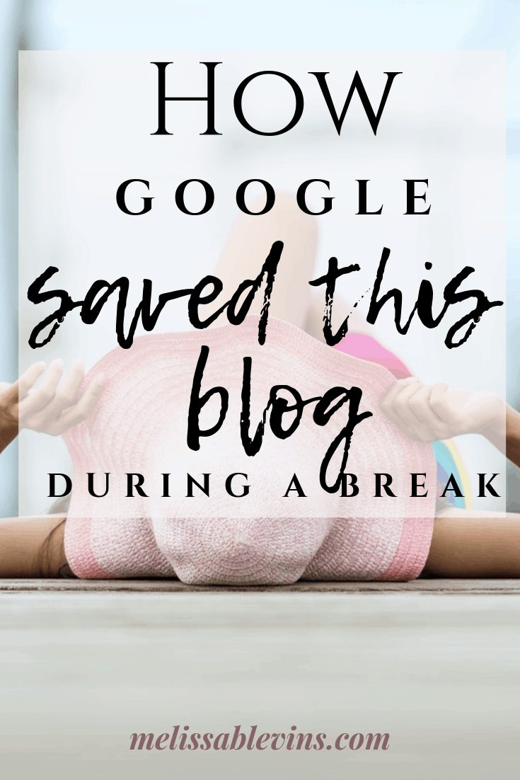 Google Ranking SEO Saved this Blog