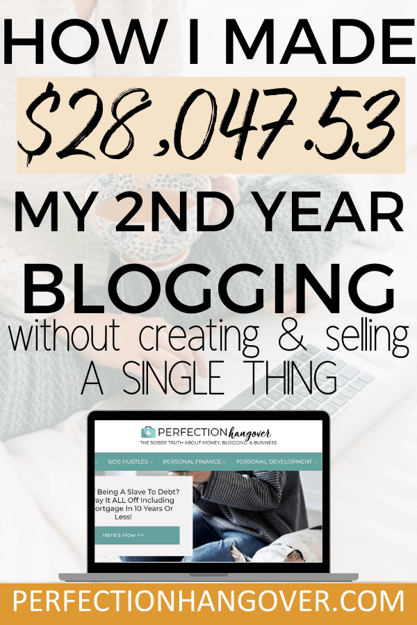 How I earned $30,000 blogging my second year without selling products or courses