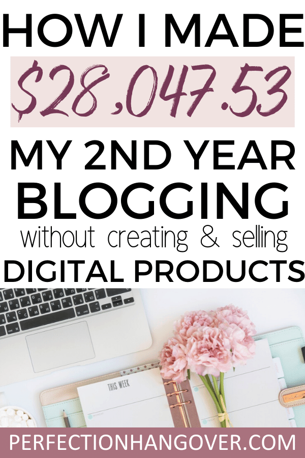 How I Made $28,047.53 my Second Year Blogging Without Creating and Selling Digital Products
