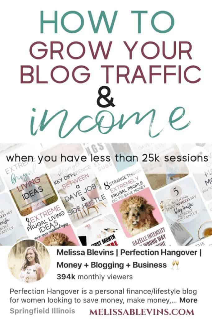 How to Grow your Blog Traffic and Income with Less Than 25,000 Sessions