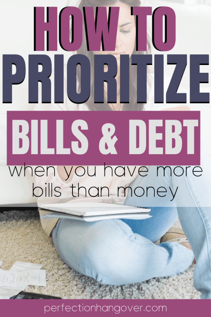 How to Prioritize Bills and Debt