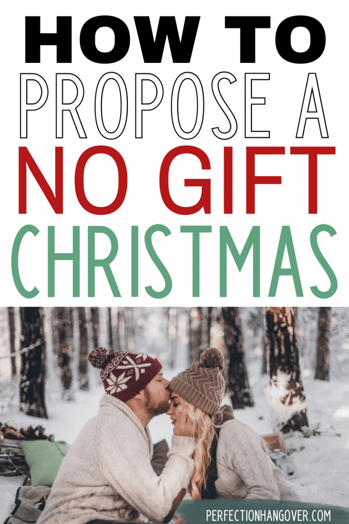 propose no gift Christmas exchange