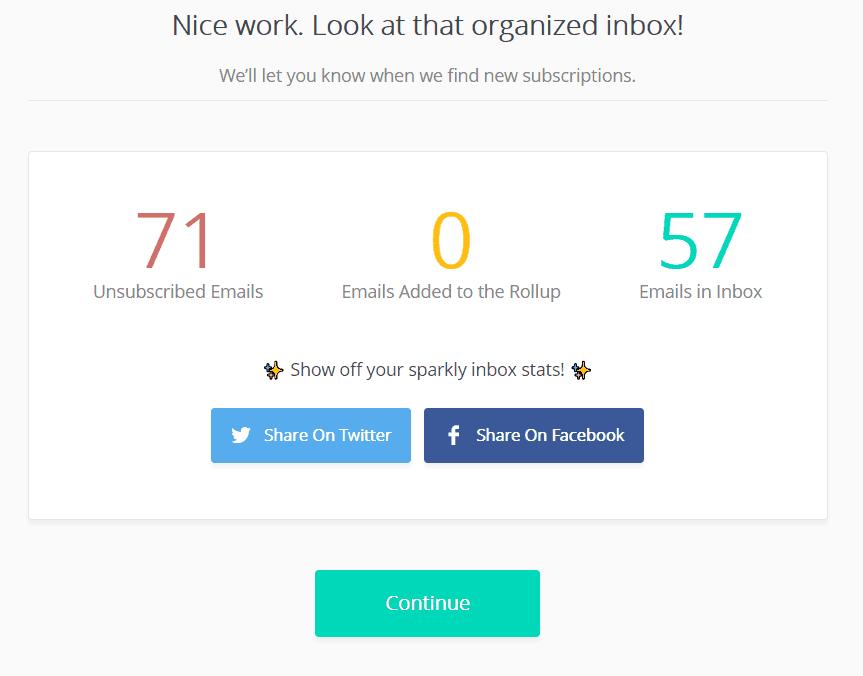 Inbox Zero Goals