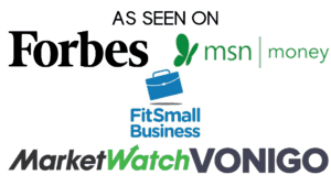 Melissa Blevins as seen on Forbes, Fit Small Business, MSN Money, Marketwatch, Vonigo (1)