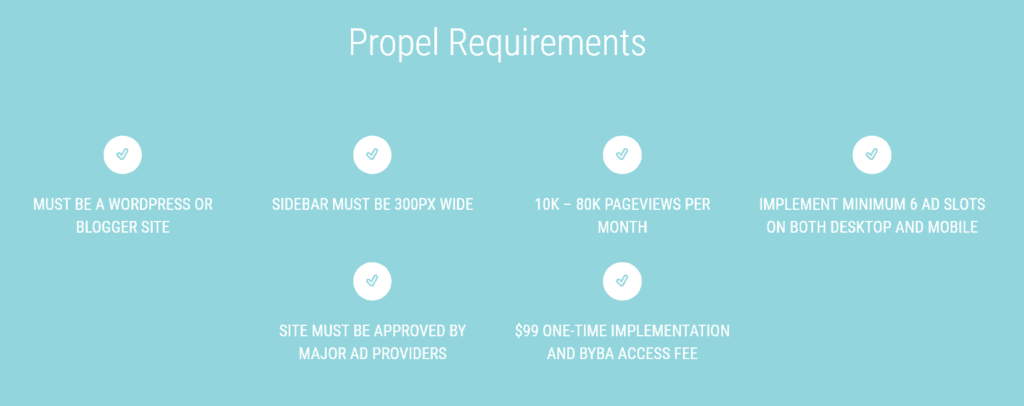 Monumetric Propel Requirements