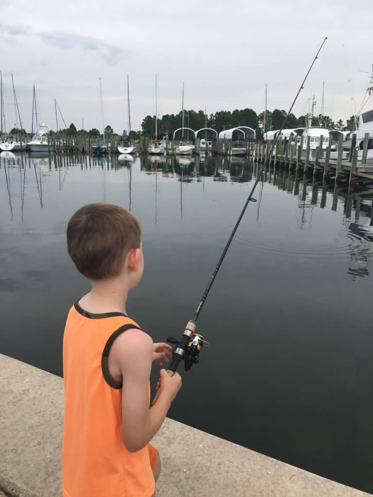 Fishing for Flounder at Port St. Joe Marina - Kids Don't Need Fishing Licenses!