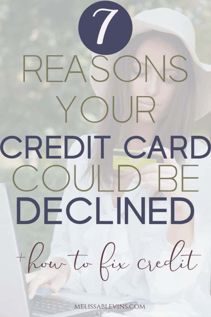 Reasons for Credit Card Declined Applications