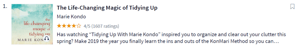 Scribd Review The Life-Changing Magic of Tidying Up Marie Kondo