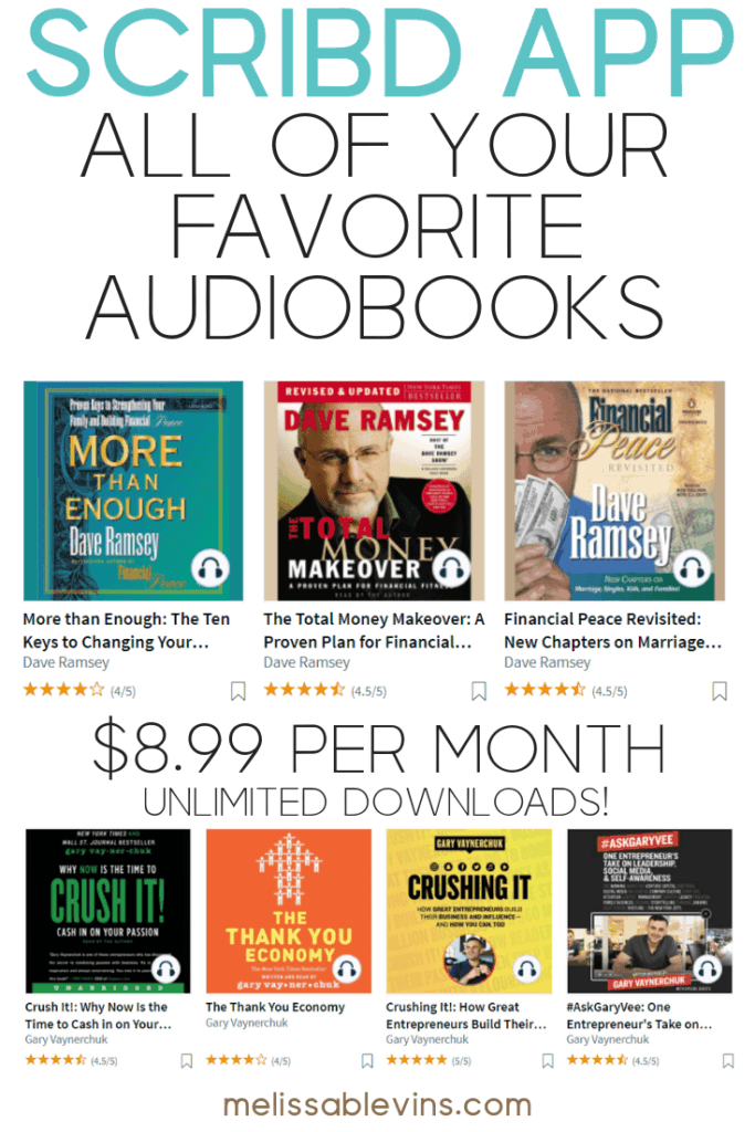 Scribd Review Enjoy UNLIMITED ebooks and audiobooks for just $8.99 per month! Move over Audible! #scribd #scribdreview #audiobooks #personaldevelopment
