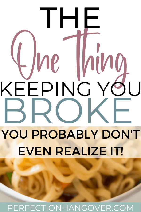 The One Thing Keeping You Poor
