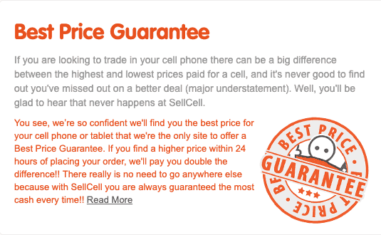 Image of Sell Cell price guaratee