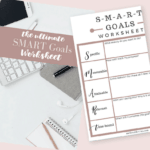 SMART Goals Worksheet: {Crush your Financial Goals}