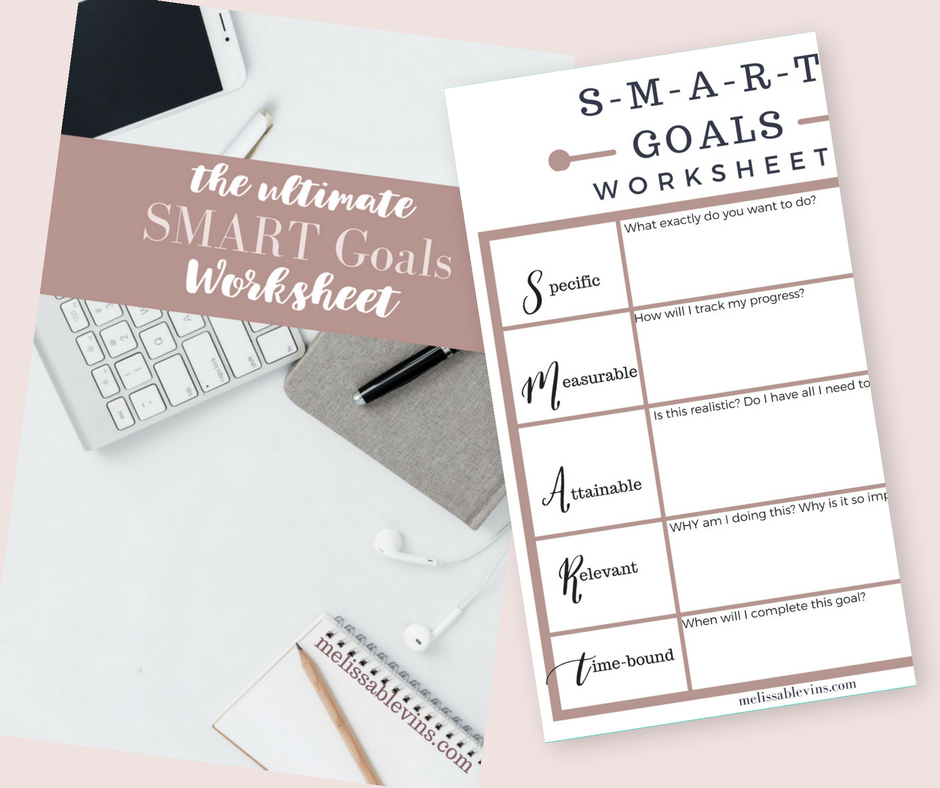 best SMART goals worksheet free download
