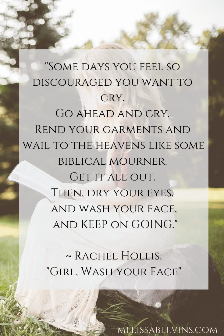 girl wash your face quote rachel hollis picking yourself up