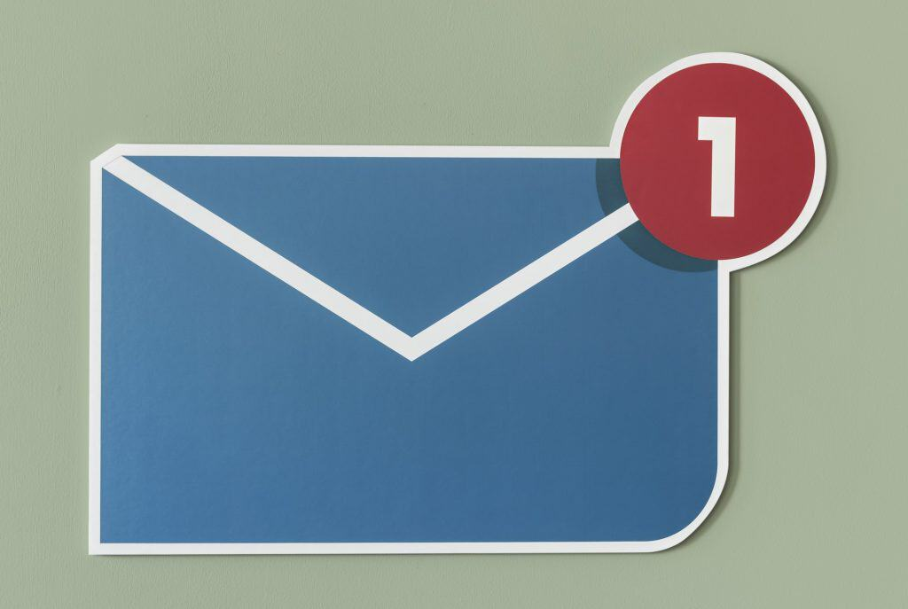 New incoming message email icon